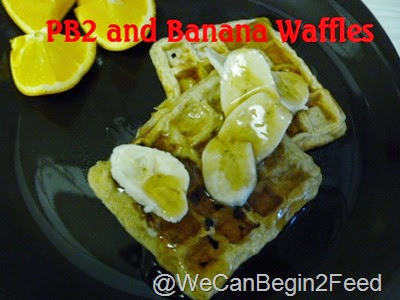 PB2 and Banana Waffles
