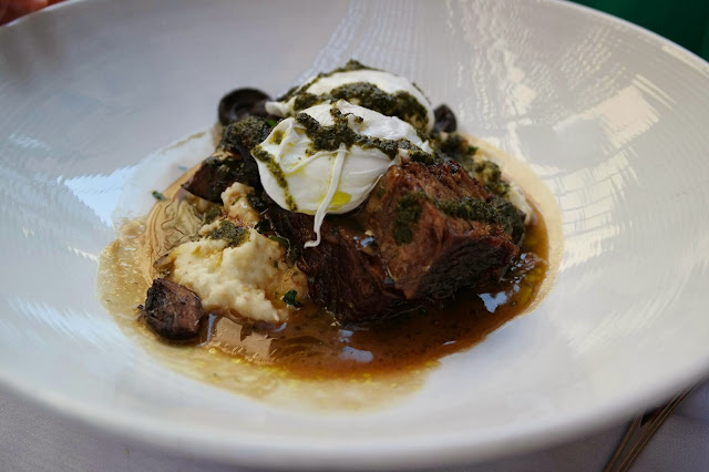 Atkins Park Virginia Highlands Short Rib and Poached Eggs