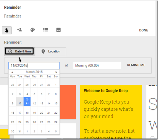 reminder-date-google-keep