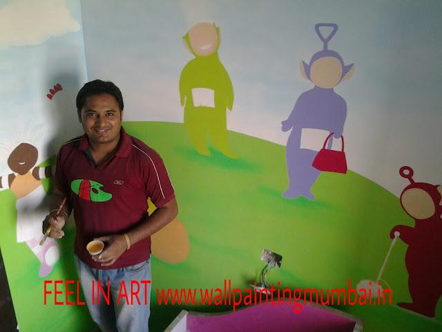 PLAY SCHOOL WALL PAINTING GHATKOPER / MUMBAI