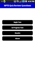 Screenshot of NPTE Practice Quiz