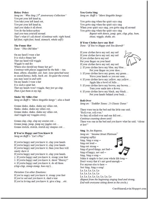 CarolSimonLevin -- Program Palooza: Singalong: All About Me