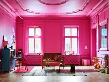Cat rumah minimalis warna Pink
