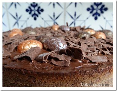cheese cake chocolat Pâques