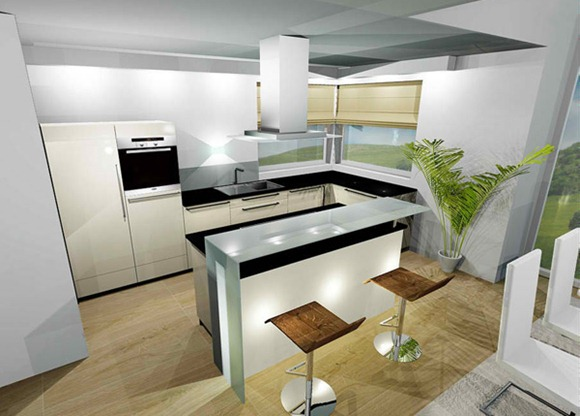 20 Modelos De Cocinas Con Bar Multifuncionales Idecorar - Cocinas-de-bares