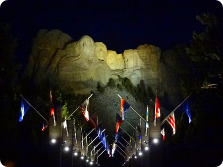 Rushmore at night