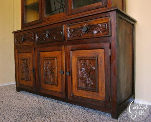 Found: Vintage Carved China Cabinet