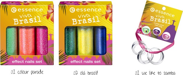 Essence Viva Brasil Effect Nails Set and Rings