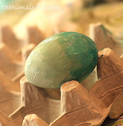 Ombre painted egg