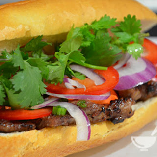 Ingredients of Lemongrass Pork Vietnamese Sandwich (Banh mi thit nuong)