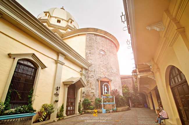 Lipa Cathedral's Side Yard