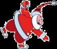 второй виджет для сайта - Санта Клаус на коньках
