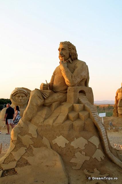 sculpturi nisip Burgas Albert Einstein 2.JPG