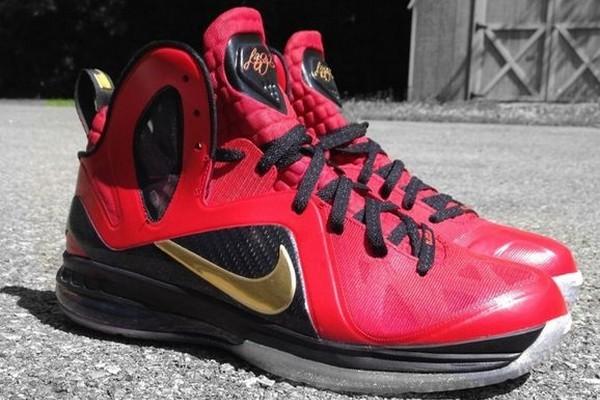 designer fashion 339e9 5b39c ... Nike LeBron 9 Elite 8220NBA Finals8221 Custom Colorway By Mache ...
