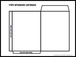 Mini Envelope Template 1