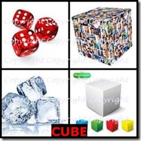 CUBE- 4 Pics 1 Word Answers 3 Letters