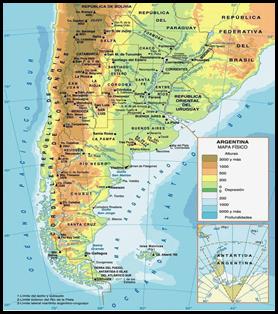 geografia fisica de argentina