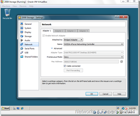 VirtualBox Networks
