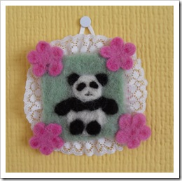Needle felted wallhanging from Kirsty March13