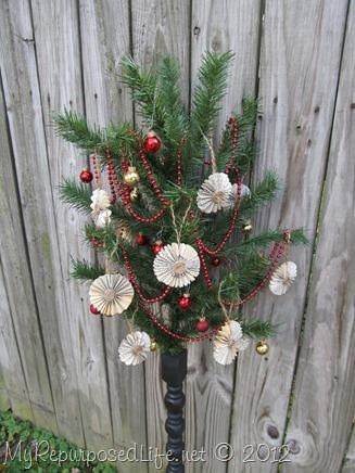 repurposed Christmas Tree & spindle