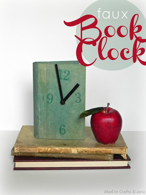 faux book clock