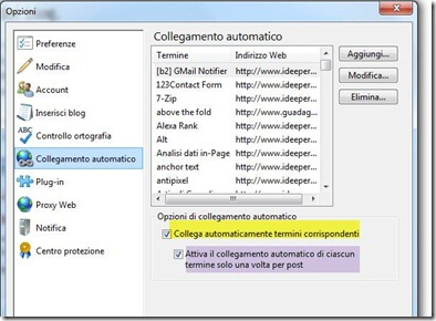 collegamento automatico windows live writer