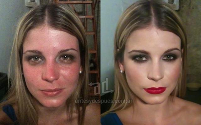Antes y despues del maquillaje 4