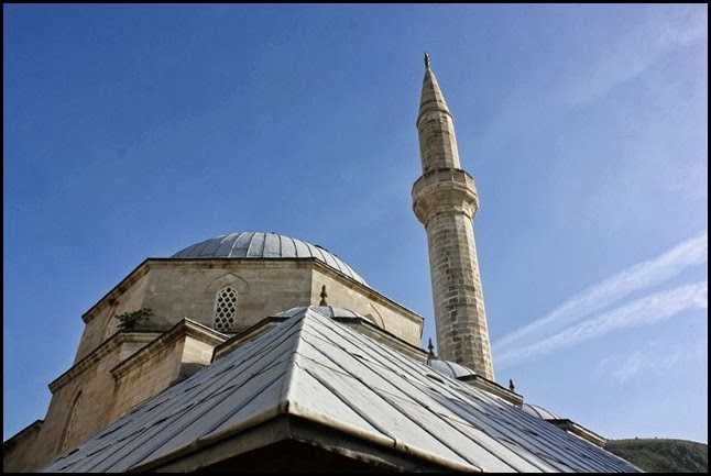 Dome and minaret of Koski Mehmet Pasha Mosque Mostar