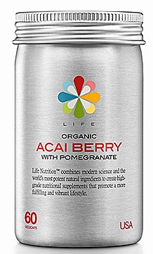 Life Nutrition Organic Acai Berry with Pomegranate WATSONS $49.90, 60 vegicaps