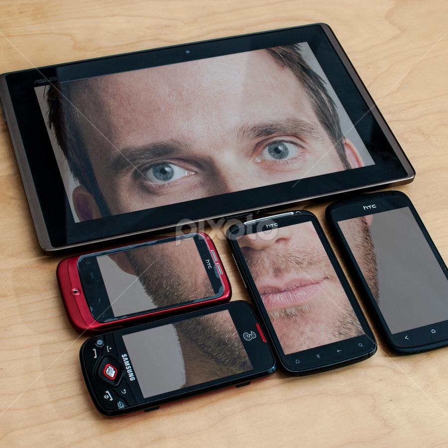 Face by Alex Barrow - Digital Art Abstract ( Selfie, self shot, portrait, self portrait,  )