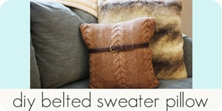 diy belted sweater pillow