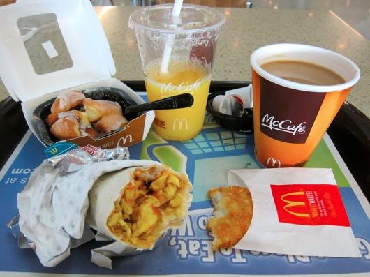 breakfast orange mcskillet melts cinnamon eat mcdonald burrito hash juice jin loves browns coffee