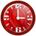 Nice Red Clock Widget. icon