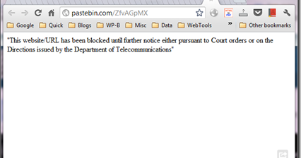 pastebin com, viemo, dailymotion and major torrent sites