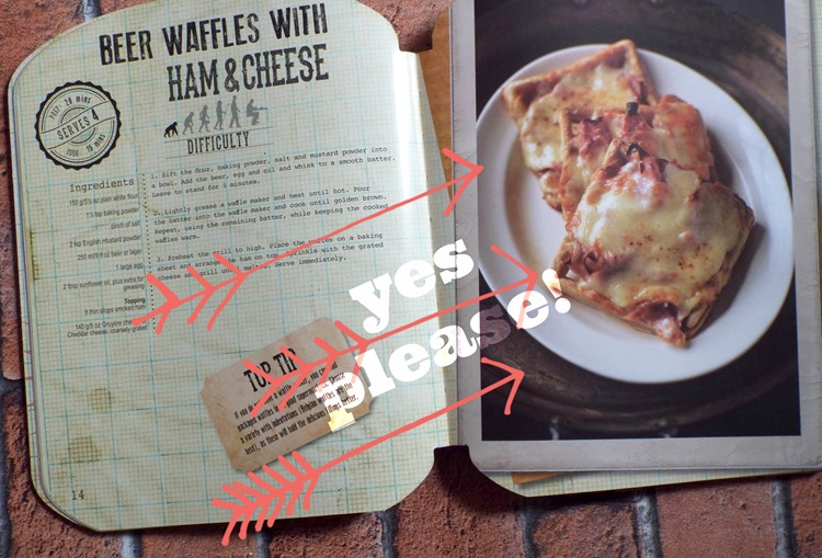 parragon book review Man Up Your Meals waffles
