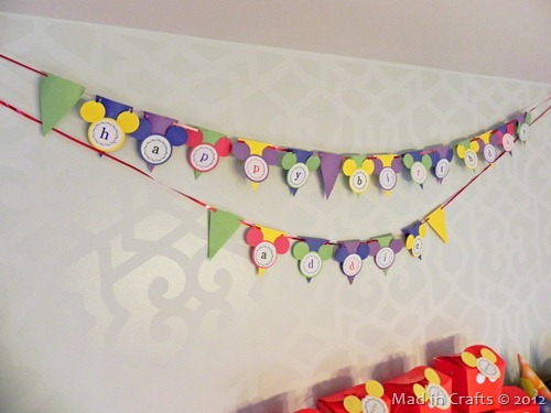 mickey birthday bunting