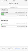 Screenshot of GCI MyUsage