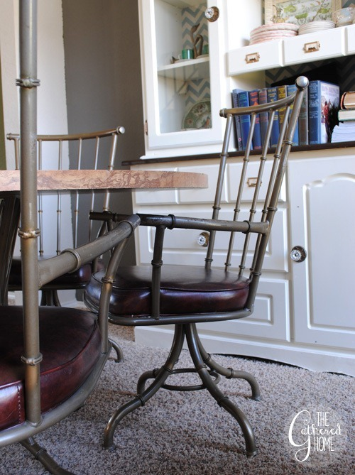 Faux Bamboo Metal Swivel Chairs14