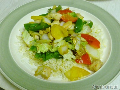 Jan 22 chicken stir fry with paleo rice 001