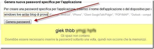 password genrazione automatica