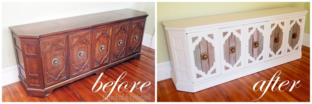 Credenza Before and After {Sawdust and Embryos}