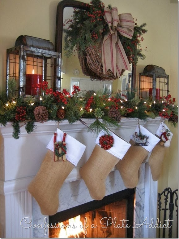 CONFESSIONS OF A PLATE ADDICT My Farmhouse Christmas Mantel