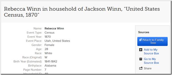 Familysearch.org上的历史记录尚未连接到树上