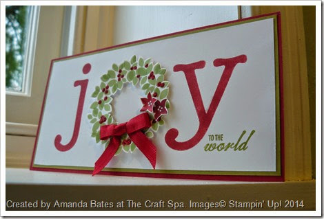 JOY card, Tips for stamping Wonderful Wondrous Wreath, Amanda Bates, The Craft Spa, North Yorkshire 050