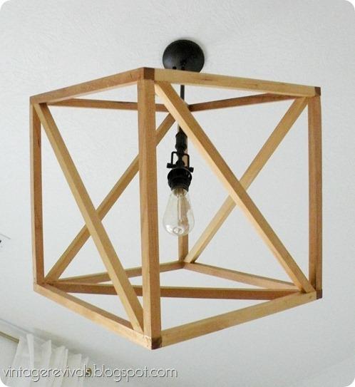 Vintage Revivals Light Fixture: Openwork Cube Pendant Light