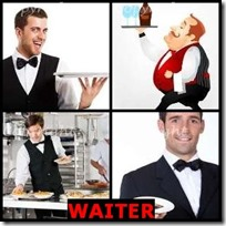 WAITER- 4 Pics 1 Word Answers 3 Letters