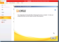 Terence Luk: Problems activating Microsoft Office 2010 on
