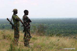 Jeunes homme armées dans le Nord-Kivu.
