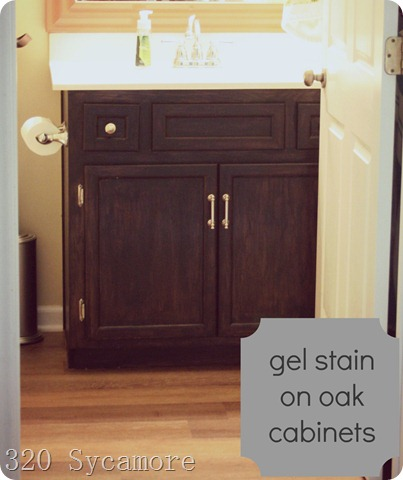 gel stain oak cabinets