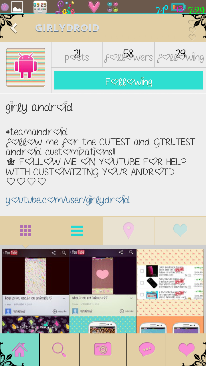 Blingin' Android: Cute Girly Info By Girly Android..Now On
